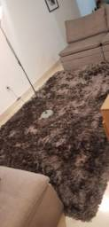 Vendo tapete de tecido cinza chumbo moderno
