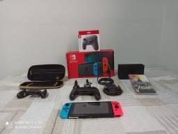 Nintendo Switch 32gb Standardvermelho-néon,azul-néon E Preto