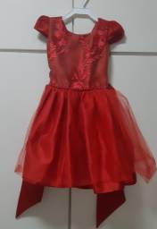 Vestido vermelho (veste 2 anos)