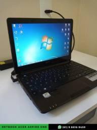 Netbook Acer Aspire One  - Tela 11 Pol (Funcionando 100% - Bateria Viciada)