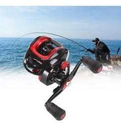 Carretilha de Pesca AUDI 10kg Preto e Vermelho