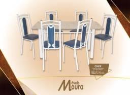Mesa 6 Cadeiras Tubular Super Oferta.