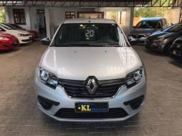 Renault- Logan Life 1.0 Flex Manual (Seminovo, Imposto 2021 pago)