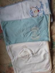 3 mantas e 3 lençóis de elástico - INFANTIL