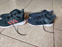 Vendo  02 tênis marca adidas usado