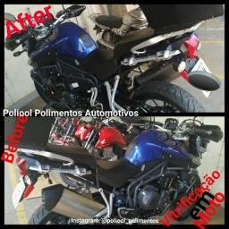 Polimento em moto