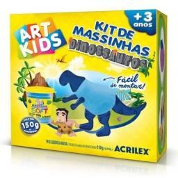 Kit Massinhas Dinossauros Azul 150G- ACRILEX - Acrilan<br><br>