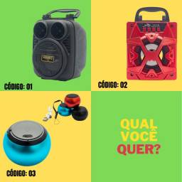 Caixinhas de Som Bluetooth 3W | 5W | 10W | Usb mp3 | Sd Card Taf | Rádio FM