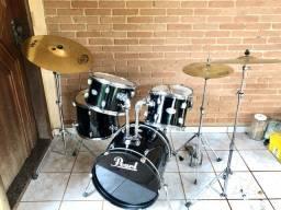 bateria pearl soundcheck (instrumento acústico)