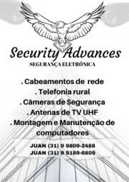 Instalação de câmera de segurança, formação de pc, cabeamento de internet
