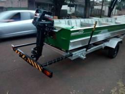 Conjunto barco carreta e motor 2018 - 2018
