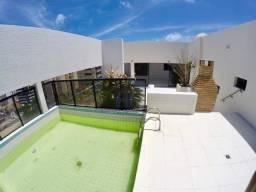 Cobertura nova com 3 quartos (2 suítes) e piscina - Edifício Mona Lisa - Ponta Verde