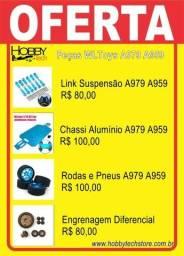 Título do anúncio: Peças Rc Wltoys A959 A979 A949 em Alumínio