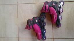 Patins rosa regulável (38-41)