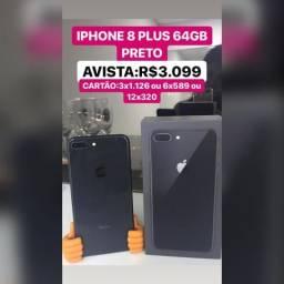 IPhone 8plus 64GB preto