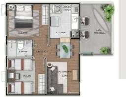 Apartamento com Pátio em Canoas, na Estância Velha, 2 dormitórios. Cód. 50857