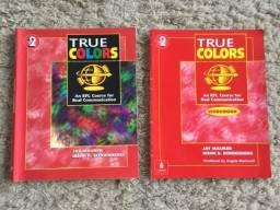 2x Livros Inglês True Colors 2 Efl Course Student's Book + Workbook Editora Longman Zerado