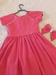 Vestido de menina para 8 anos cor vermelho