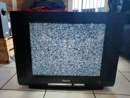 "TV Philips 21"" Ultra Slim Line 21PT94 Bivolt sem controle"