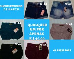 Shorts feminino DELLARTH