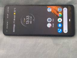 Moto one action 128gb tela trincada
