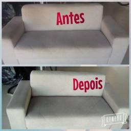 LIMPEZA DE ESTOFADOS EM GERAL