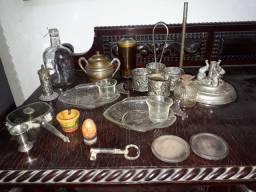 Peças antigas e para decoração (lote)