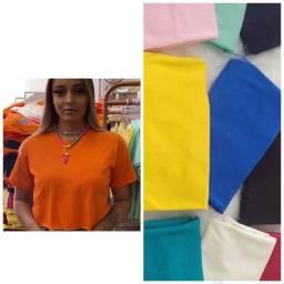 Croppeds cores variadas e com estampas