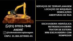 SERVIÇOS DE TERRAPLANAGEM E TRANSPORTE DE MÁQUINAS