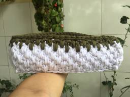 Conjunto de cachepô de crochê