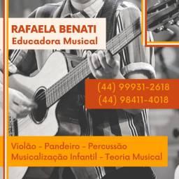 Aulas de violão, teclado, pandeiro e musicalização infantil
