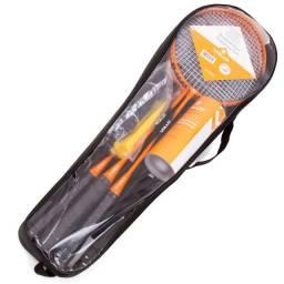 Kit Badminton Vollo 4 raquetes c/ suporte