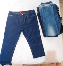 Calças Jeans Femininas Plus Size