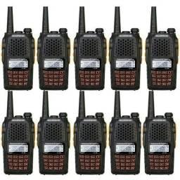 Kit 10 Radio Dual Band(uhf+vhf) Baofeng Uv-6r + Fone<br>