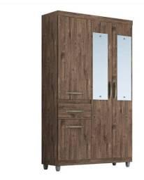 Guarda Roupa Gabriela 4 Portas , C/ Espelho(Novo) Promoção