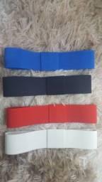 1Faixa elástica  para chapéu. Azul, preta, vermelha, off whife, fúcsia e rosa.