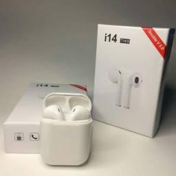 Fone Bluetooth Novo TWS I14 Branco