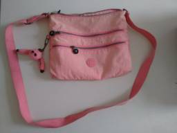 bolsa de ombro Kipling rosa
