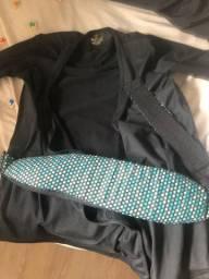 Camisa Canguru nuroo Babywearing Com Suporte Cinto Azul Turquesa Tamanho Xs/Pequeno