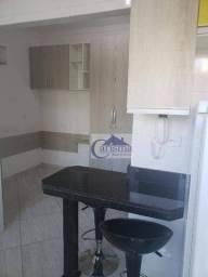 Studio com 1 dormitório para alugar, 20 m² por R$ 800,00/mês - Vila São Pedro - Santo Andr