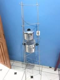 Tripé de cozinha - suporte - 6 compartimentos