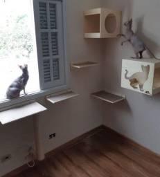 Playground projetado para gatos