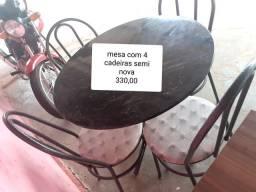 Mesa com 4 cadeiras entrego.