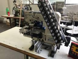 Maquina cos  e eláctico 12 -agulhas eletrônica com dispositivo de corte automatico