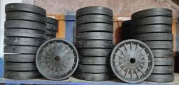 Rodas plásticas e de borracha para Betoneiras