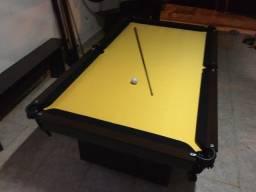 Mesa Encanto de Redes Cor Preta Tecido Amarelo Mod. PNPH0410