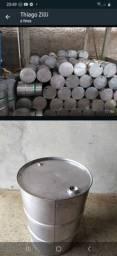 Tambores de 200 litros em aço inoxidável