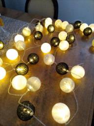 Luminária cordão LED 40 bolinhas, 6 metros