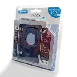 Adaptador Caddy 9,5mm e 12.7mm p/ HD ou SSD 2.5 P/ Notebook - Produto Novo