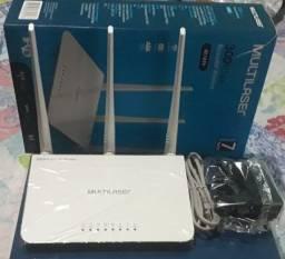 Roteador Multilaser 3 Antenas Re163v Branco Novo Lacrado